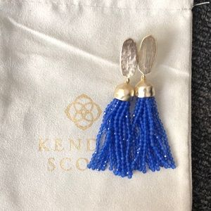 Kendra Scott Gold/ Royal Marin Earrings